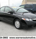 honda civic 2010 black sedan hybrid w navi hybrid 4 cylinders front wheel drive automatic 45840
