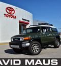 toyota fj cruiser 2011 green suv gasoline 6 cylinders 4 wheel drive automatic 32771