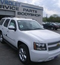 chevrolet tahoe 2011 summit white ltz flex fuel 8 cylinders 4 wheel drive automatic 99553