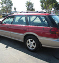 subaru legacy 1998 red wagon outback limited gasoline 4 cylinders all whee drive 5 speed manual 92882