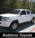 toyota tacoma 2009 white v6 gasoline 6 cylinders 4 wheel drive automatic 75503