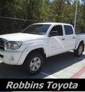 toyota tacoma 2009 white v6 gasoline 6 cylinders 4 wheel drive automatic 75503