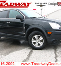 saturn vue 2008 black suv xe gasoline 4 cylinders front wheel drive automatic 45840