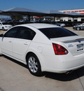 nissan maxima 2007 white sedan 3 5 sl gasoline 6 cylinders front wheel drive automatic 76087