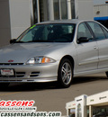 chevrolet cavalier 2002 silver sedan gasoline 4 cylinders front wheel drive automatic 62034