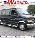 ford econoline e 150 1999 blue van v8 automatic with overdrive 45840