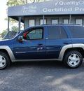 chevrolet trailblazer 2003 dk  blue suv ltz 4x4 gasoline 6 cylinders 4 wheel drive 4 speed automatic 47172