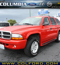 dodge durango 2003 red suv slt gasoline 8 cylinders 4 wheel drive automatic 98632
