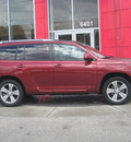 toyota highlander 2008 maroon suv gasoline 6 cylinders front wheel drive automatic 33884