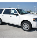 ford expedition el 2012 white platinum meta suv limited flex fuel 8 cylinders 2 wheel drive 6 speed automatic 77388