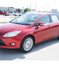 ford focus 2012 red sedan sel gasoline 4 cylinders front wheel drive automatic 77388
