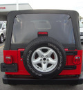 jeep wrangler 2006 red suv x gasoline 6 cylinders 4 wheel drive automatic 60443