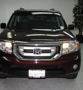 honda pilot 2009 maroon suv ex l gasoline 6 cylinders front wheel drive automatic 91731