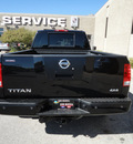 nissan titan 2008 black pro 4x off road 4x4 gasoline 8 cylinders 4 wheel drive automatic with overdrive 60546