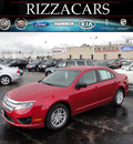 ford fusion 2012 red sedan s gasoline 4 cylinders front wheel drive automatic with overdrive 60546
