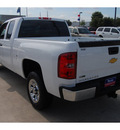 chevrolet silverado 1500 2011 white pickup truck work truck flex fuel 8 cylinders 2 wheel drive 6 speed automatic 77090