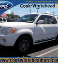 toyota sequoia 2006 white suv sr5 gasoline 8 cylinders rear wheel drive automatic 32401