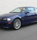 bmw m3 2005 blue coupe gasoline 6 cylinders rear wheel drive 6 speed manual 27616