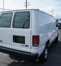 ford econoline cargo 2011 white van e 250 flex fuel 8 cylinders rear wheel drive automatic with overdrive 08753