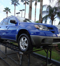 mitsubishi outlander 2004 blue suv ls gasoline 4 cylinders front wheel drive automatic 33157
