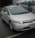 honda civic 2007 silver sedan lx gasoline 4 cylinders front wheel drive automatic 13502