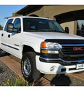 gmc sierra 2500hd classic 2007 white slt gasoline 8 cylinders 4 wheel drive automatic with overdrive 99352