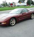 chevrolet corvette coupe 2003 maroon coupe gasoline v8 rear wheel drive automatic 17972