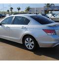 honda accord 2009 silver sedan ex l gasoline 4 cylinders front wheel drive automatic 77065