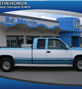 chevrolet c k 2500 series 1995 blue and white pickup truck c2500 gasoline 8 cylinders rear wheel drive automatic 46219