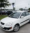 kia rio 2009 white sedan sx gasoline 4 cylinders front wheel drive automatic 76205