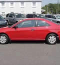 honda civic 2005 red coupe value package gasoline 4 cylinders front wheel drive automatic 06019