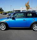 mini cooper 2007 blue hatchback s gasoline 4 cylinders front wheel drive 6 speed manual 98371