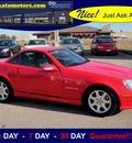 mercedes benz slk class 2003 red slk230 kompressor gasoline 4 cylinders rear wheel drive automatic 56001