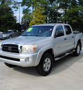toyota tacoma 2005 silver double cab sr 5 trd gasoline 6 cylinders 4 wheel drive automatic 27616