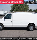 ford econoline cargo 2004 white van 5 4 cargo 92k gasoline 8 cylinders rear wheel drive automatic with overdrive 80012