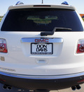 gmc acadia 2008 white suv sle gasoline 6 cylinders front wheel drive automatic 76018