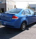 ford focus 2010 blue sedan se gasoline 4 cylinders front wheel drive automatic with overdrive 80229