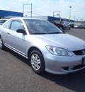 honda civic 2005 silver coupe value package gasoline 4 cylinders front wheel drive automatic 98632