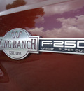 ford f 250 super duty 2005 dk  red king ranch diesel 8 cylinders 4 wheel drive automatic 33177