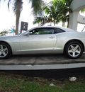 chevrolet camaro 2011 silver coupe lt gasoline 6 cylinders rear wheel drive automatic 33177