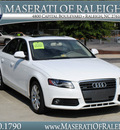 audi a4 2009 white sedan 2 0t quattro gasoline 4 cylinders all whee drive shiftable automatic 27616