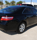 toyota camry 2007 black sedan le gasoline 4 cylinders front wheel drive automatic 75228