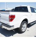 ford f 150 2011 white lariat flex fuel 8 cylinders 2 wheel drive automatic 77388