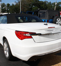chrysler 200 convertible 2012 white touring flex fuel 6 cylinders front wheel drive automatic 07730