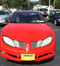 pontiac sunfire 2003 red coupe gasoline 4 cylinders dohc front wheel drive automatic 07730