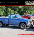 gmc sierra 3500 1997 blue pickup truck rc sl 4x4 plow gasoline v8 4 wheel drive automatic with overdrive 55318