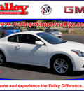 nissan altima 2010 white coupe 2 5 s gasoline 4 cylinders front wheel drive automatic 55124