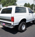 ford bronco 1995 white suv 4x4 lifted 5 8 gasoline v8 4 wheel drive automatic with overdrive 80012