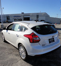 ford focus 2012 white hatchback titanium gasoline 4 cylinders front wheel drive automatic with overdrive 60546