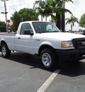 ford ranger 2007 white pickup truck xl gasoline 6 cylinders rear wheel drive automatic 33177